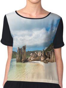 Tropical beach Chiffon Top