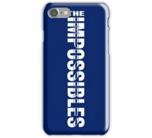 The Impossibles Logo - White - Vertical iPhone Case/Skin