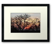South African Sunset Almost Gone Framed Print