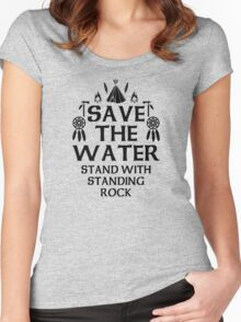 NoDapl, Save The Water Women's Fitted Scoop T-Shirt