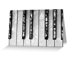 ACCORDION KEYBOARD Greeting Card