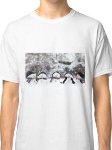 Five cute little snowman in a row Classic T-Shirt