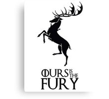 OURS THE FURY Canvas Print