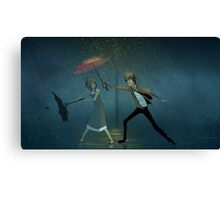 This Guy With An Umbrella Canvas Print