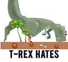 t-rex hates pushups by mralan