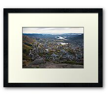 Looking south from Ulriken Framed Print