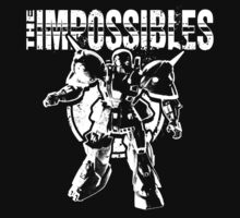 The Impossibles Logo w/ Robot - White T-Shirt