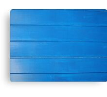 Bright Blue Rough Wood Effect Wooden Boards Texture Canvas Print