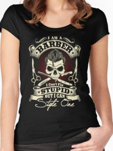 Barber T-Shirt Women's Fitted Scoop T-Shirt