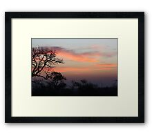 South African Sunrise Framed Print