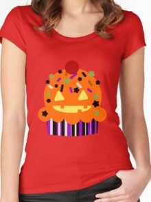 Halloween Cupcake Women's Fitted Scoop T-Shirt