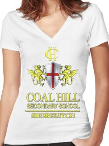 Doctor Who - Coal Hill Secondary Women's Fitted V-Neck T-Shirt