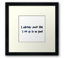 Harry Potter I solemnly swear Framed Print