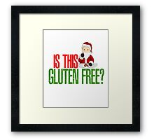 Funny Christmas Is This Gluten Free Santa Claus Cookies Foodie Food Allergy Hipster Holiday Vintage Distressed Xmas Framed Print