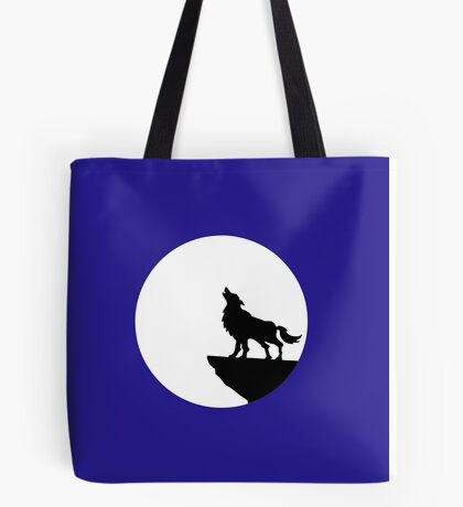 loup wolf moon  Tote Bag