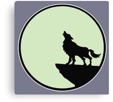 loup wolf moon  Canvas Print