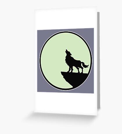 loup wolf moon  Greeting Card