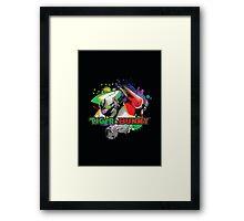 Tiger and bunny helmet Framed Print