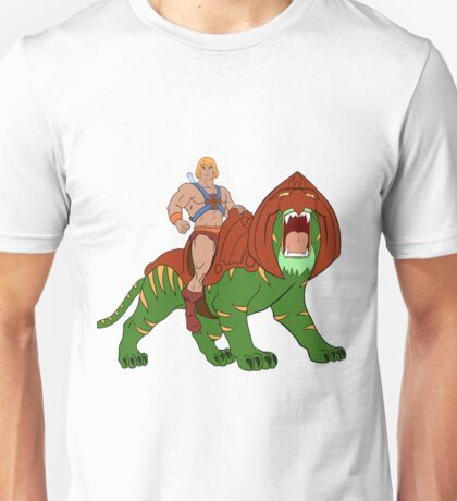 He-man and BattleCat Filmation Style Unisex T-Shirt