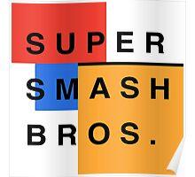Super Smash Bros. Mondrian Poster