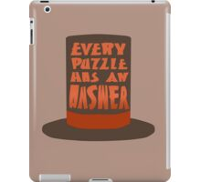 Every Puzzle Has An Answer iPad Case/Skin