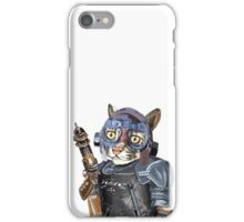 Naughty Pilot Cat with Laser Gun and Heavy Armor iPhone Case/Skin
