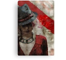 Clandestine - Grunge Urban Digital Art Canvas Print