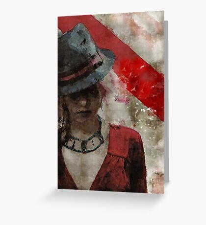 Clandestine - Grunge Urban Digital Art Greeting Card