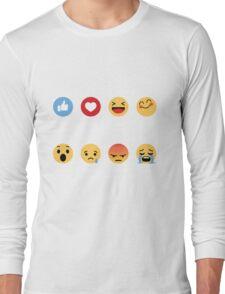 I Love Softball Emoji Emoticon Long Sleeve T-Shirt