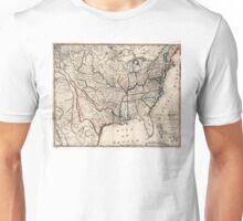 United States - Map including Louisiana - 1818 Unisex T-Shirt