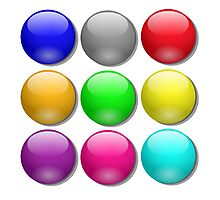Balls, Coloured, Marbles, bright, colourful,  Photographic Print