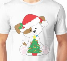 Cute Puppy Santa Unisex T-Shirt