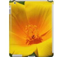 Big Poppy Flower Golden Orange Yellow Silky iPad Case/Skin