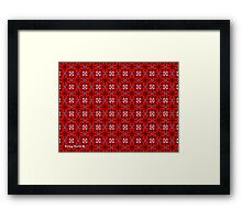 Hearts and Scrolls Pattern Framed Print
