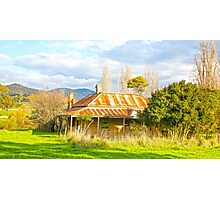 The Old farmhouse in the valley.... Photographic Print