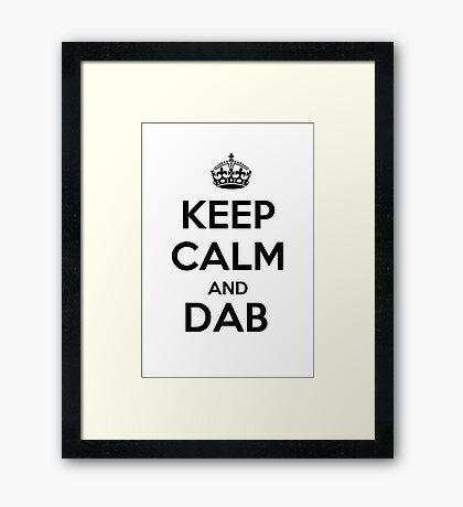 Keep calm and dab Framed Print
