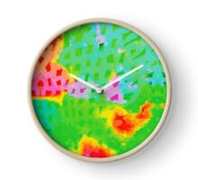 Colorful Abstract Watercolor Painting Background Clock