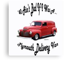 Birthday products for a 40 yr. old; Plymouth Canvas Print