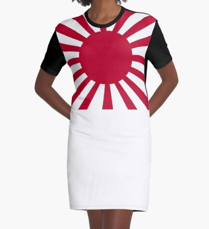 Rising Sun Japan Flag Style T-Shirt Graphic T-Shirt Dress