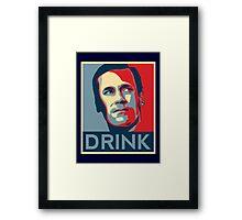 Don Drink Poster Framed Print