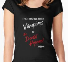The Trouble with Vampires Women's Fitted Scoop T-Shirt