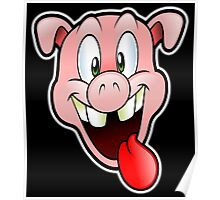 PIG, Greedy, Cartoon, Fun, Funny, Laugh, Joke Poster