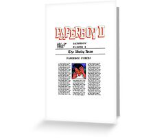 PAPERBOY 2 - GAME OVER SCREEN Greeting Card