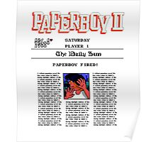PAPERBOY 2 - GAME OVER SCREEN Poster