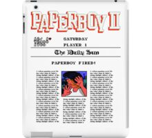 PAPERBOY 2 - GAME OVER SCREEN iPad Case/Skin