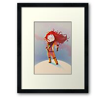 The Girl Wonder Framed Print