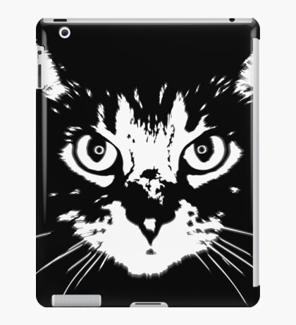 cat - b&w iPad Case/Skin