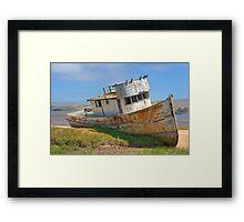Beached - Point Reyes Tug Framed Print