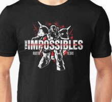 The Impossibles Logo w/ Robot - White and Red Unisex T-Shirt