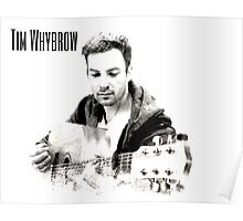 Digital artwork of musician Tim Whybrow, Launceston, Tasmania, Australia Poster